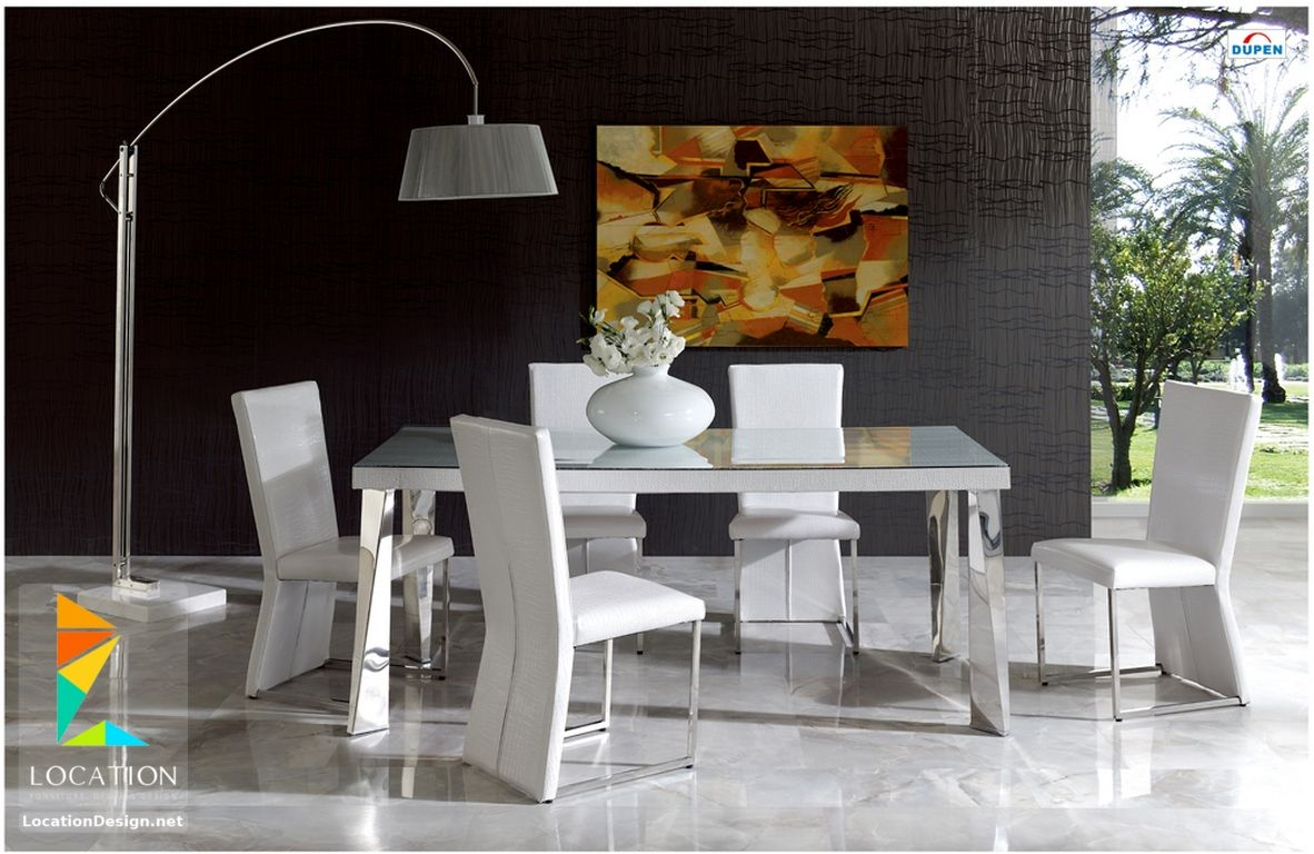 ESF Furniture Coco Dining Room Set In White This Collection By Offers A Contemporary Approach Design With Slight