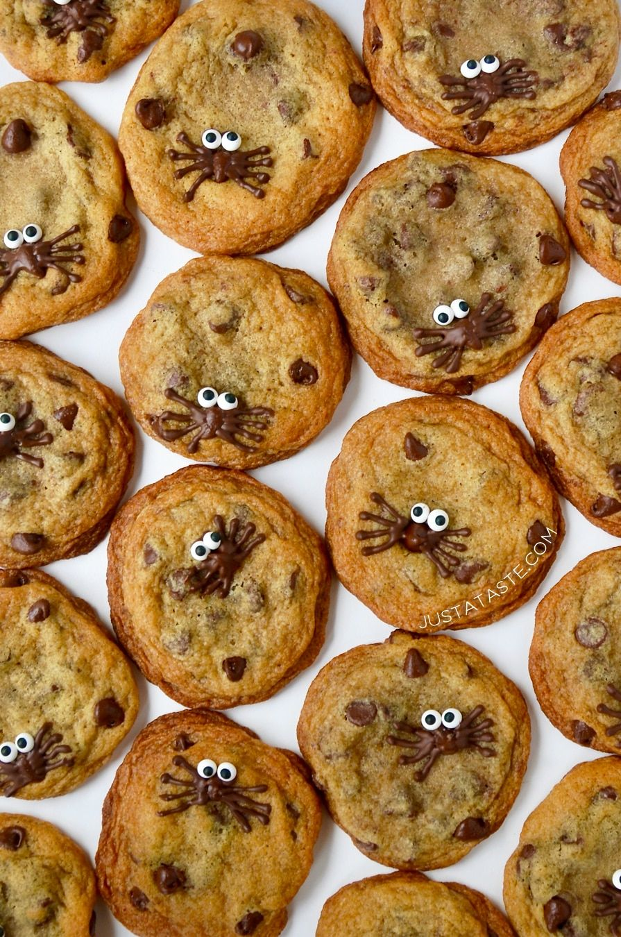 halloween chocolate chip cookies recipe from justataste #recipe