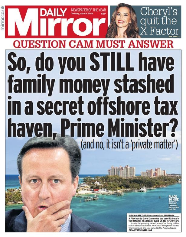 Image result for david cameron panama papers