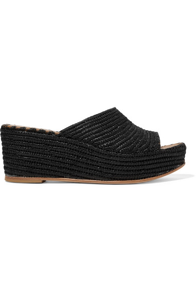 81b77a5dfa78 CARRIE FORBES KARIM WOVEN RAFFIA WEDGE SANDALS.  carrieforbes  shoes ...