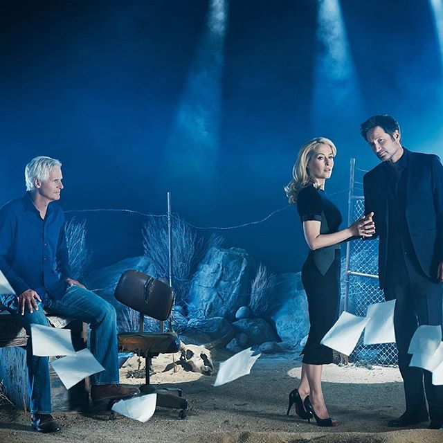 Chris Carter, Gillian Anderson and David Duchovny #xfiles2016