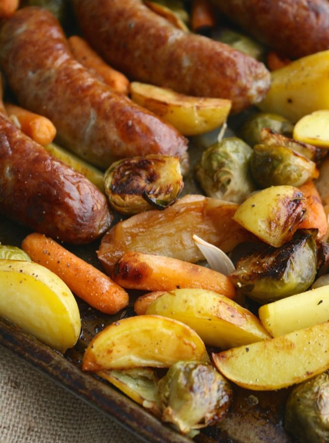 Oktoberfest Sheet Pan Brats with Roasted Vegetables