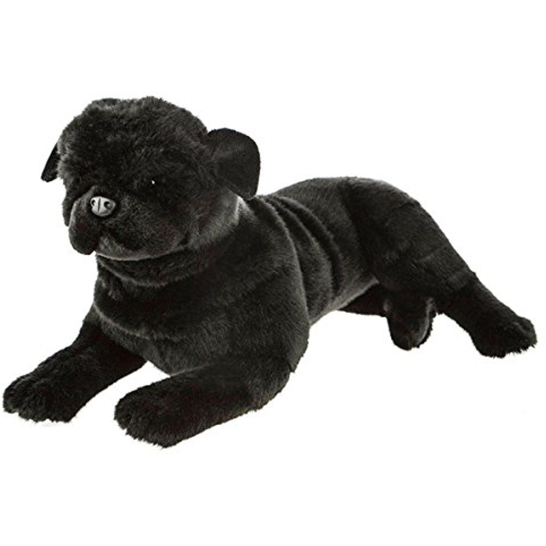 Bocchetta Plush Toys Pug Dog Lying Soft Plush Toy Bandit Medium