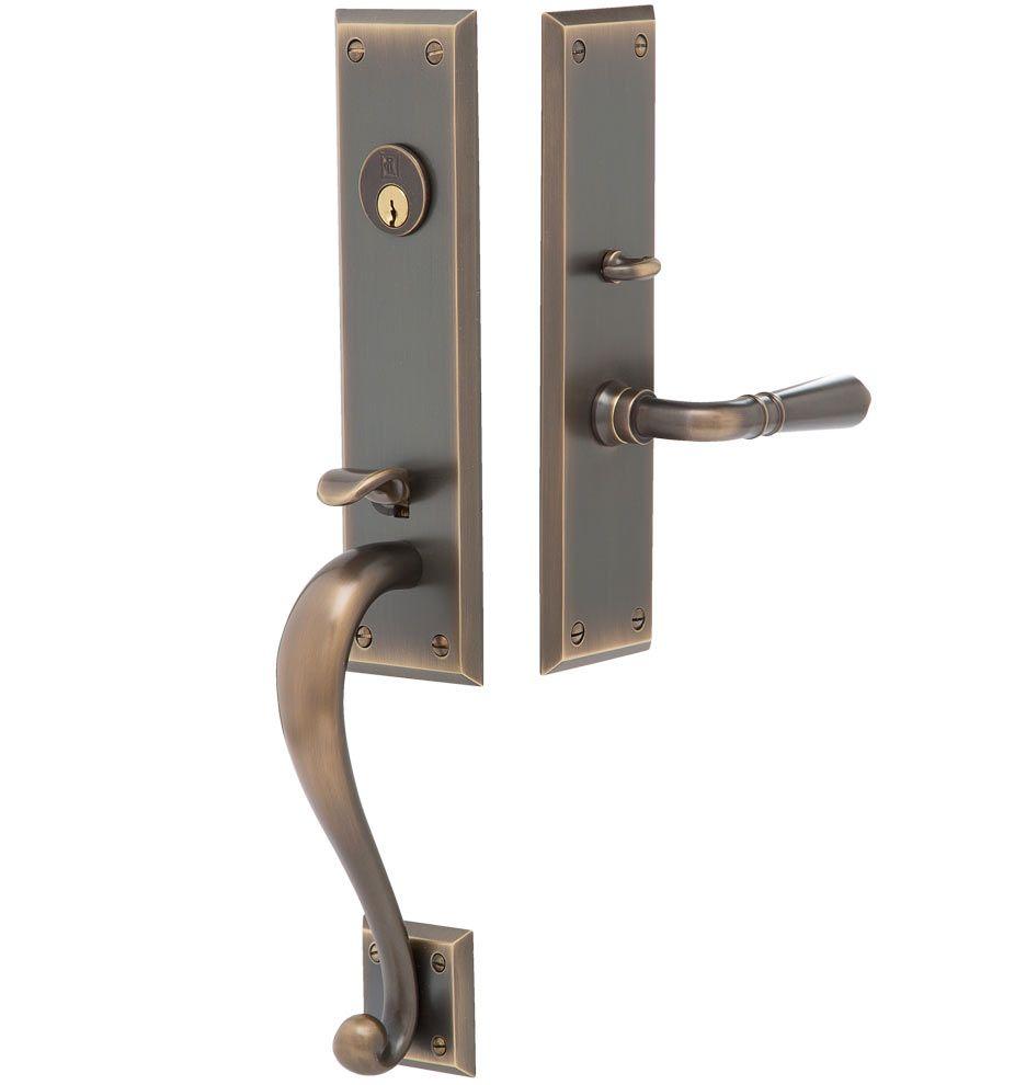 Putman Traditional Lever Exterior Door Hardware Mortise Set