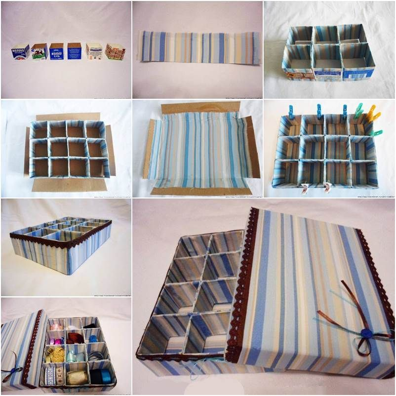 Charmant It Is Awesome To Take Some Cardboard And Make A Nice Storage Box, As Shown  In This DIY Tutorial. You Can Use Milk Carton To Make The Dividers, ...