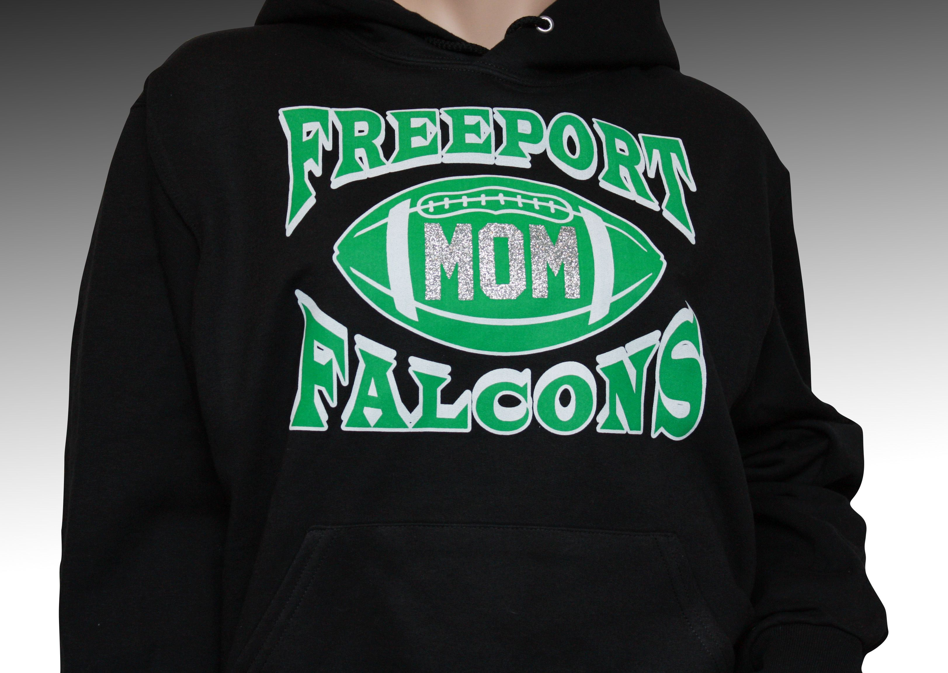footballmom hoodie design with team name mascot and added glitter qfb - Hoodie Design Ideas