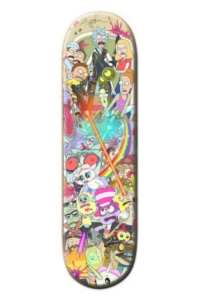 Rick And Morty Custom Skateboard 8 1 2 In 2020 Skateboard Design Cool Skateboards Custom Skateboards