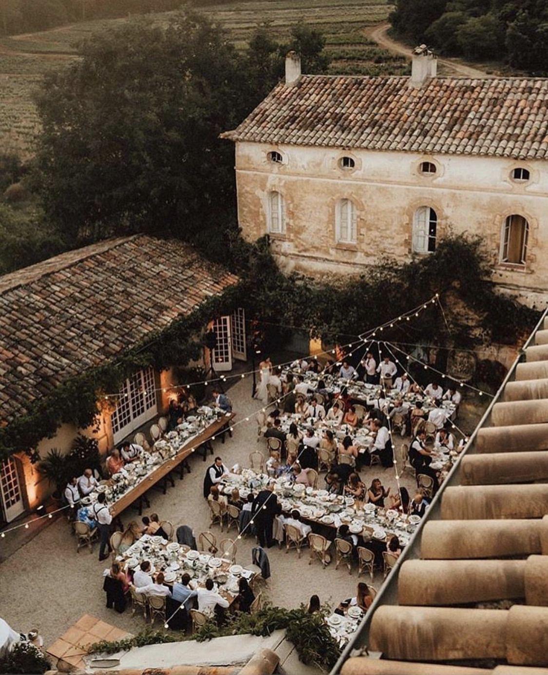 Pretty European Village Dinner Party Under The Stars