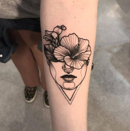 Super flowers girl tattoo faces ideas #tattoo #flowers