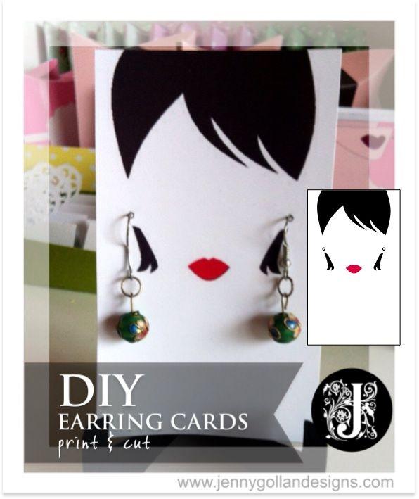 earring card template design gollan designs diy