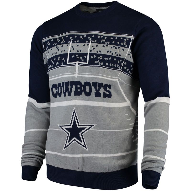 Dallas Cowboys Stadium Light Up Sweater Navy Products