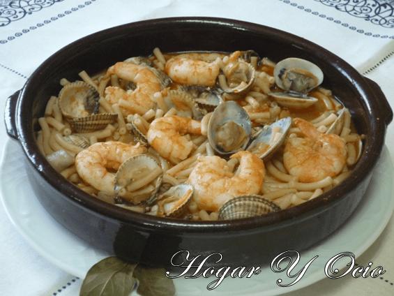 Cazuela de fideo con marisco – Hogar cocina facil