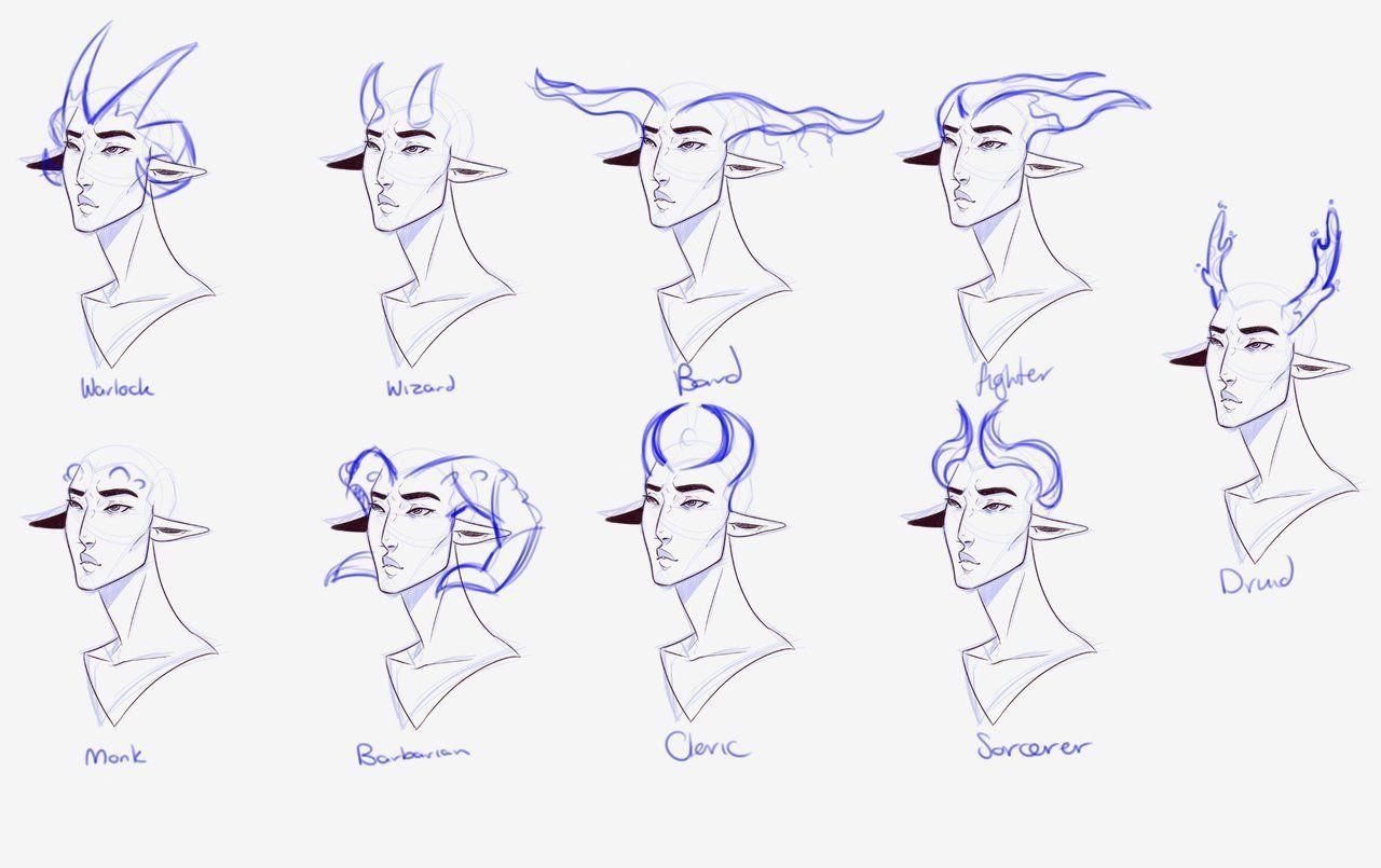"fl0wer-b0ys-art: ""Tiefling horns that grow according to ..."