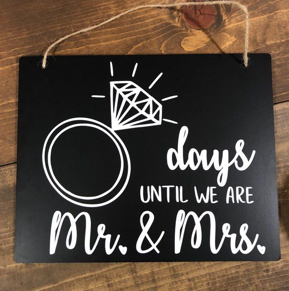 Wedding Countdown Gifts For Bride: Mr. & Mrs. Chalkboard Svg, Wedding Countdown Chalkboard