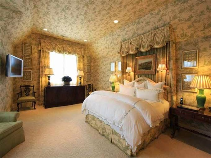 Nashville House  Green Toile Bedroom