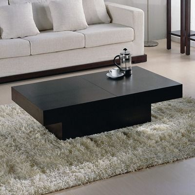 Hokku Designs Nile Rectangular Motion Storage Coffee Table In Wenge