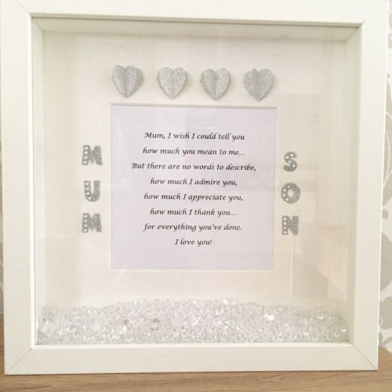 Mother\'s Day frame, Mother\'s Day gift, Mother\'s Day personalised ...