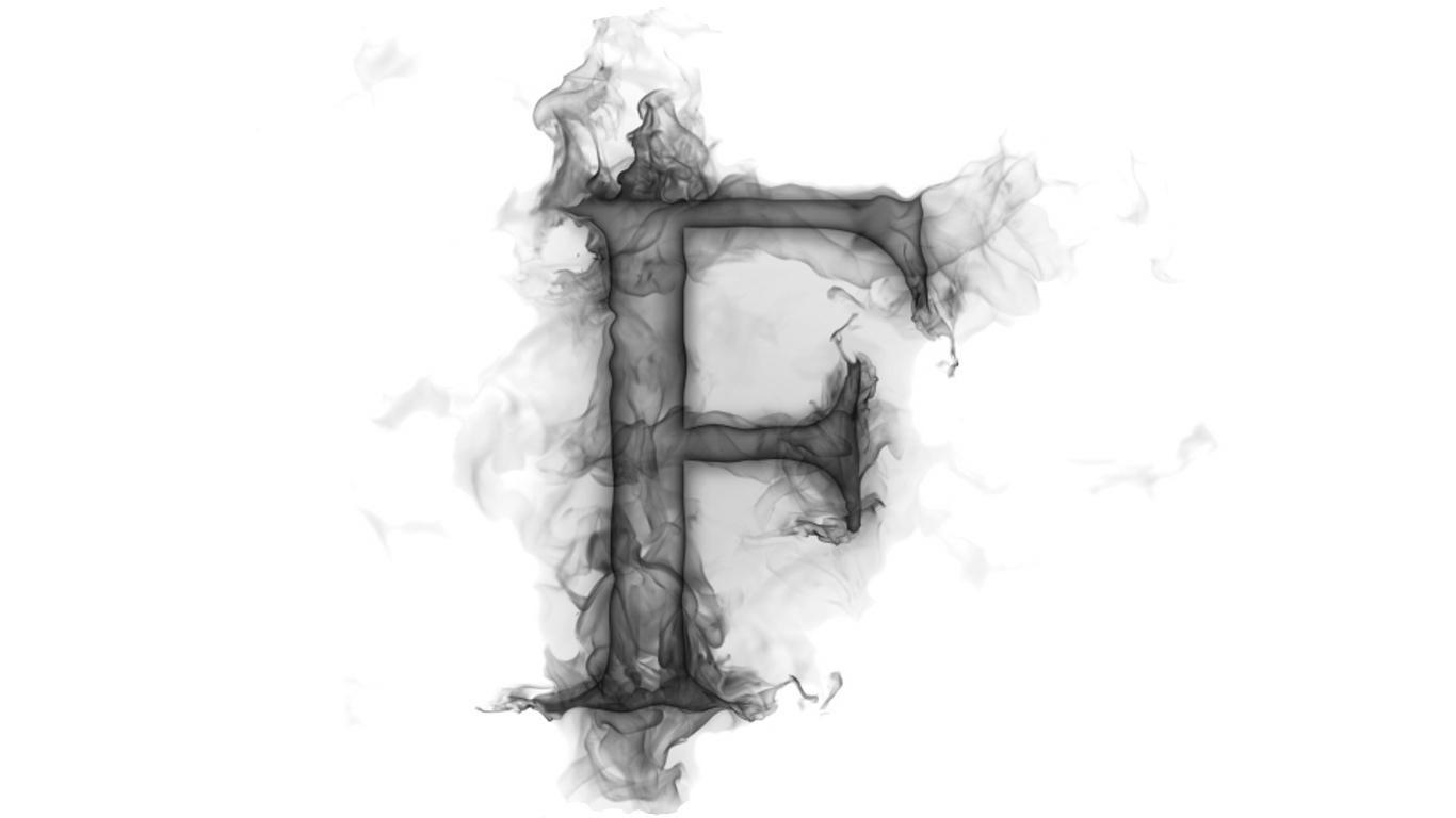 F S F Alphabet Wallpaper Stylish Alphabets Alphabet Design
