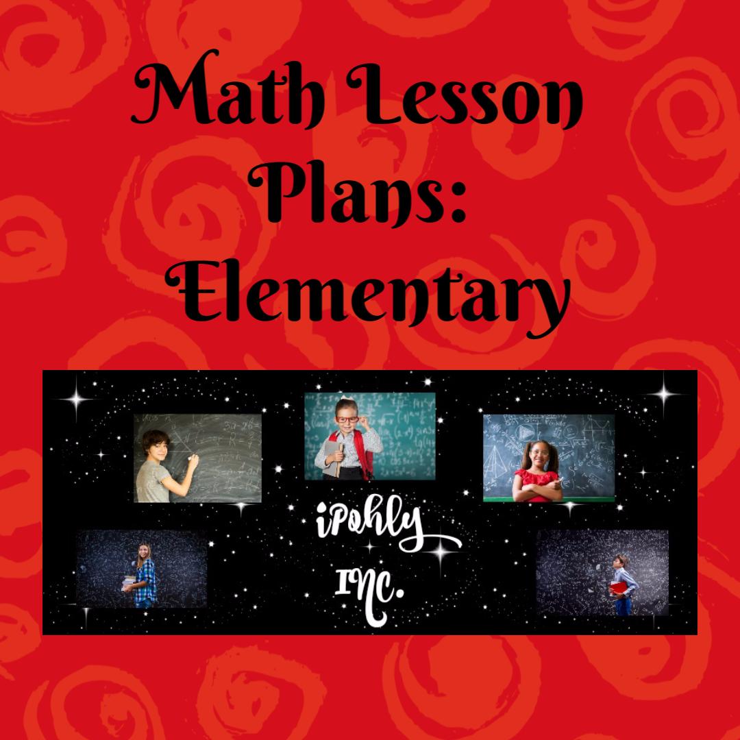 Math Lesson Plans Elementary