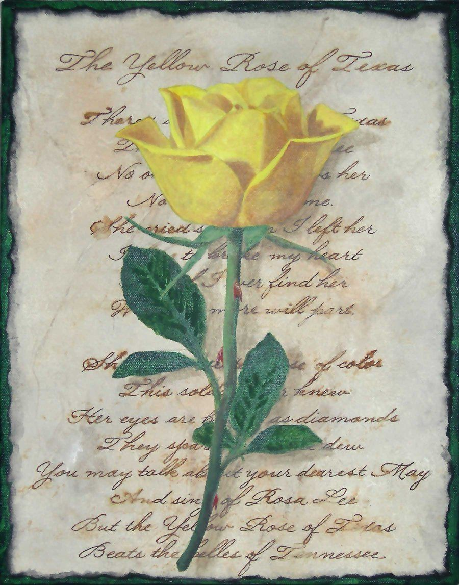 Artists of texas yellow rose yellow rose of texas by