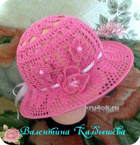 шляпка крючком работа валентины калдышевой вязание и схемы вязания