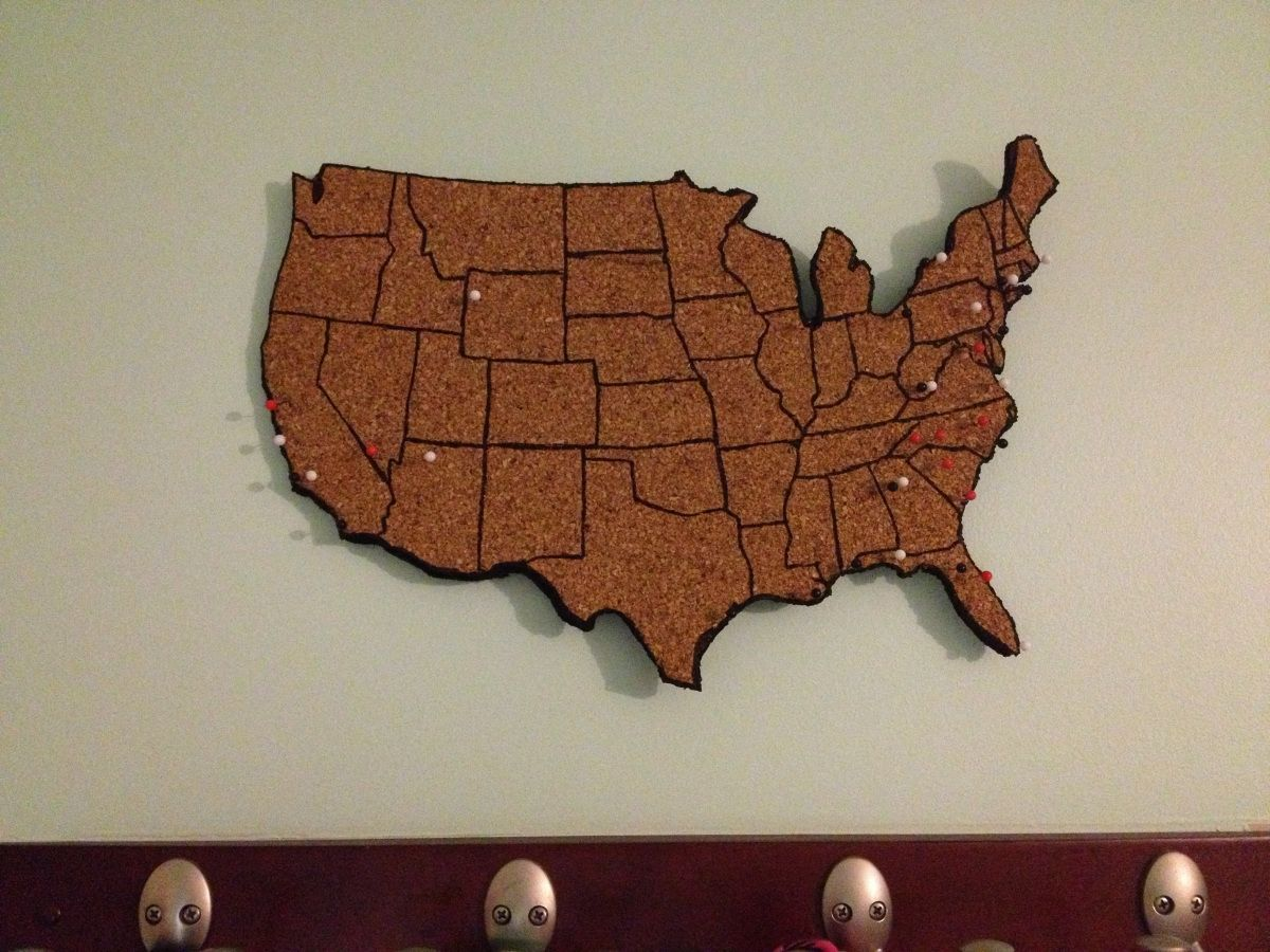 Travel Tracking A DIY Cork Map DIY And Crafts As And Corks - Us travel tracking map