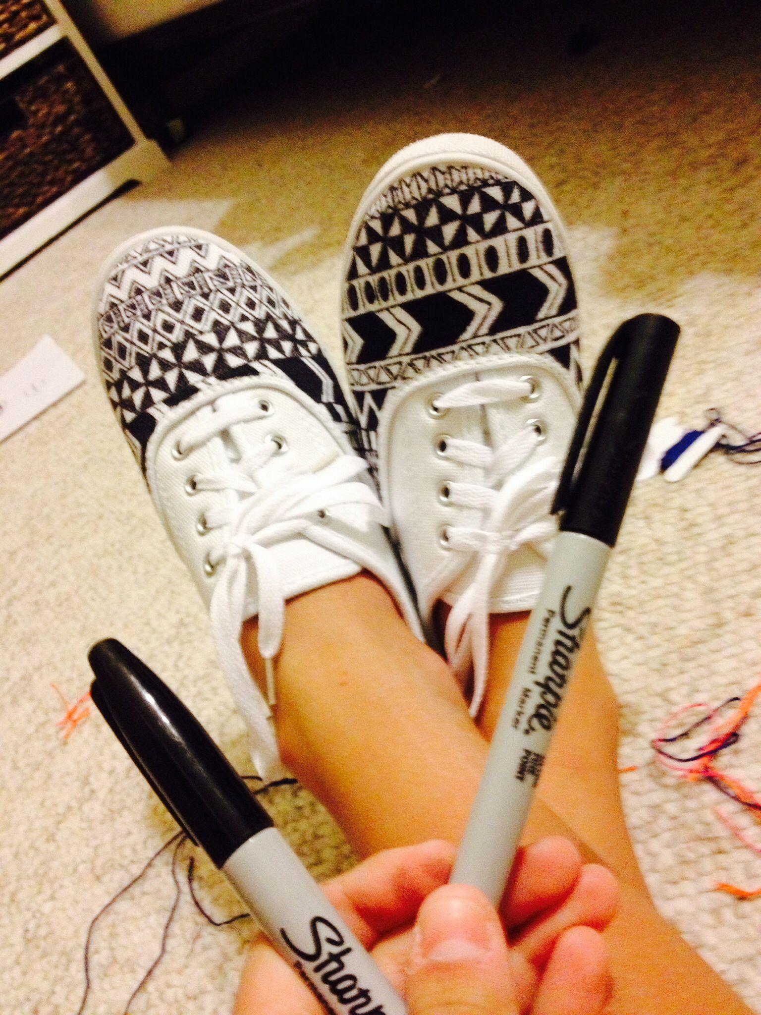 Aztec DIY sharpie pen shoes. | My shoe designs | Pinterest ...