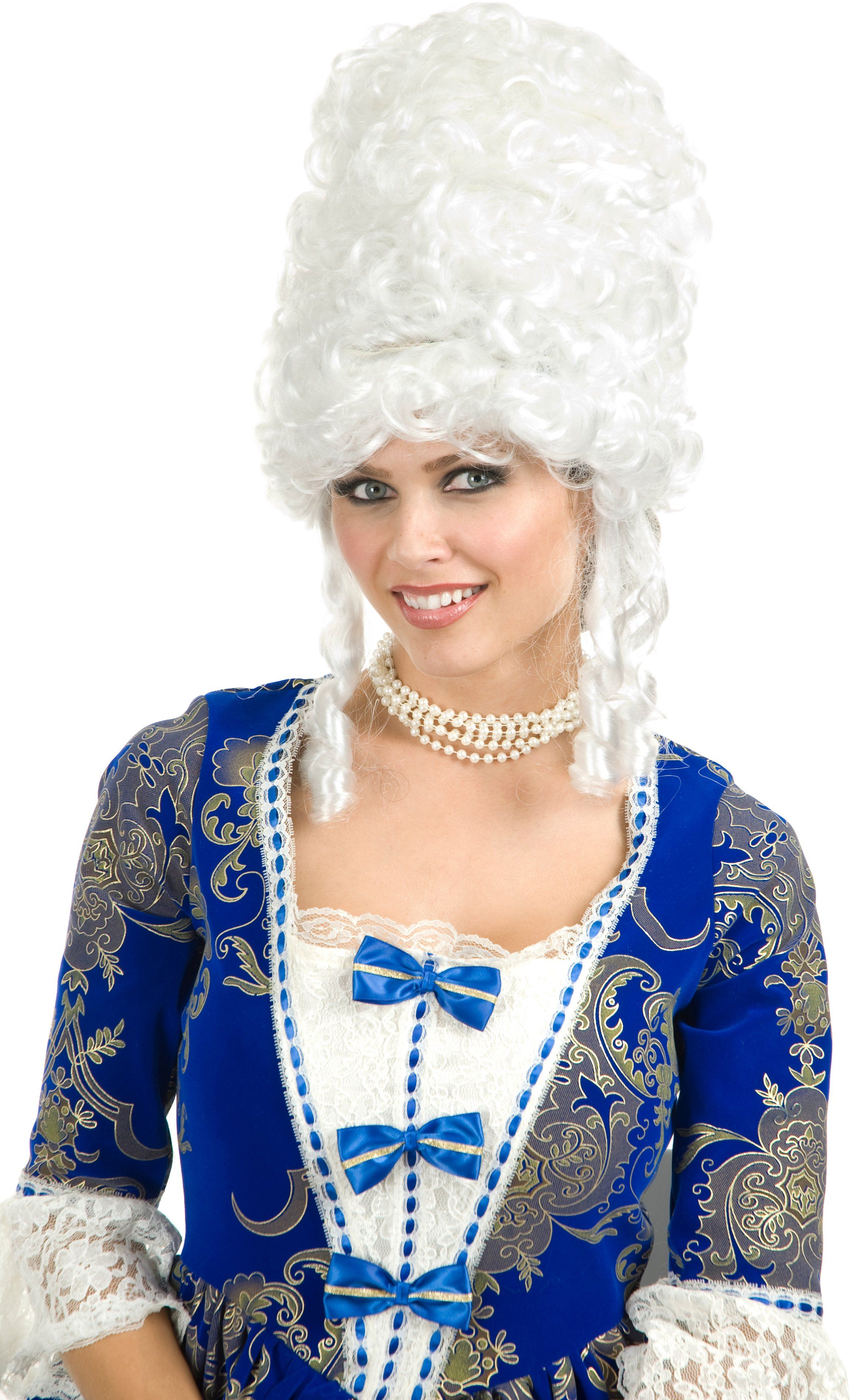 Colonial Man Wig Powder Fancy Dress Up Halloween Costume Accessory 3 COLORS