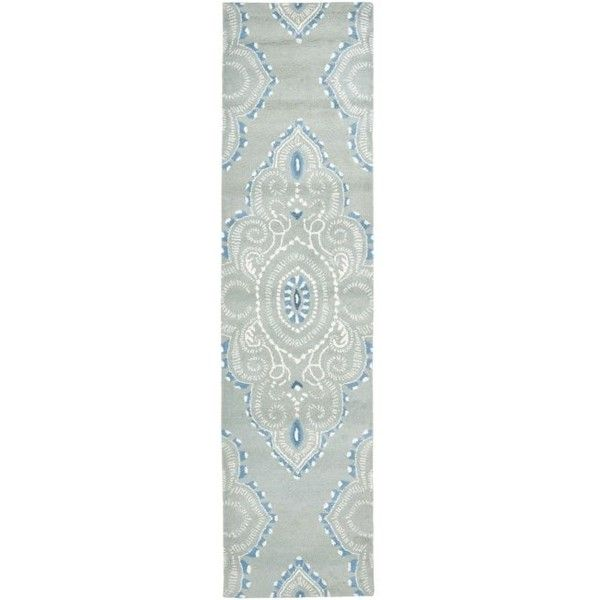 Safavieh Handmade Chatham Mystic Blue New Zealand Wool Rug ($113) ❤ liked on Polyvore featuring home, rugs, blue, blue geometric area rug, blue geometric rug, blue rug, new zealand wool rugs and geometric pattern rug