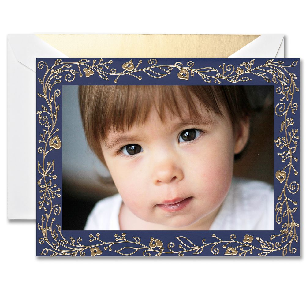 Magical Border Boxed Holiday Photo Mount Greeting Cards ...
