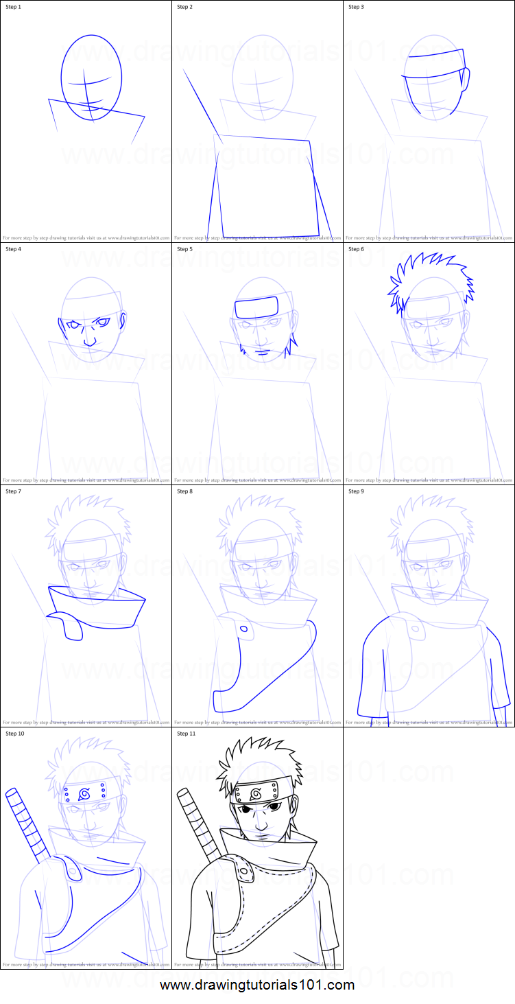How To Draw Shisui Uchiha From Naruto Printable Drawing Sheet By Drawingtutorials101 Com Naruto Drawings Anime Drawings Tutorials Shisui