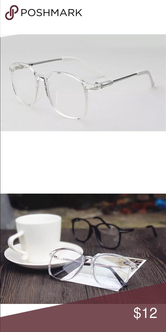 Crystal Clear Transparent Vintage Oversize Glasses Oversized Glasses Fashion Eye Glasses Glasses Brands