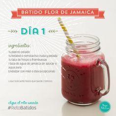 Dia 1 Batido Flor De Jamaica Reto Batidos Recetas De Jugos