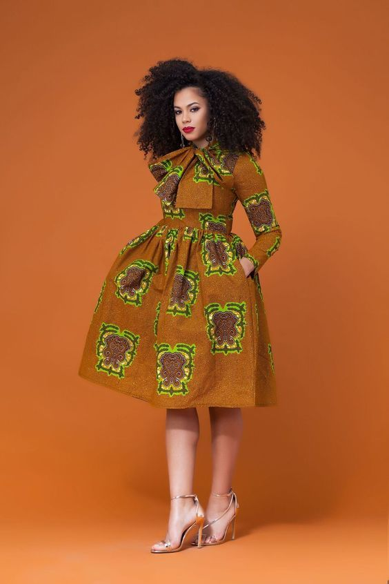 Most Beautiful Ankara Short Dresses | Stylish Gwin Blog #africanprintdresses