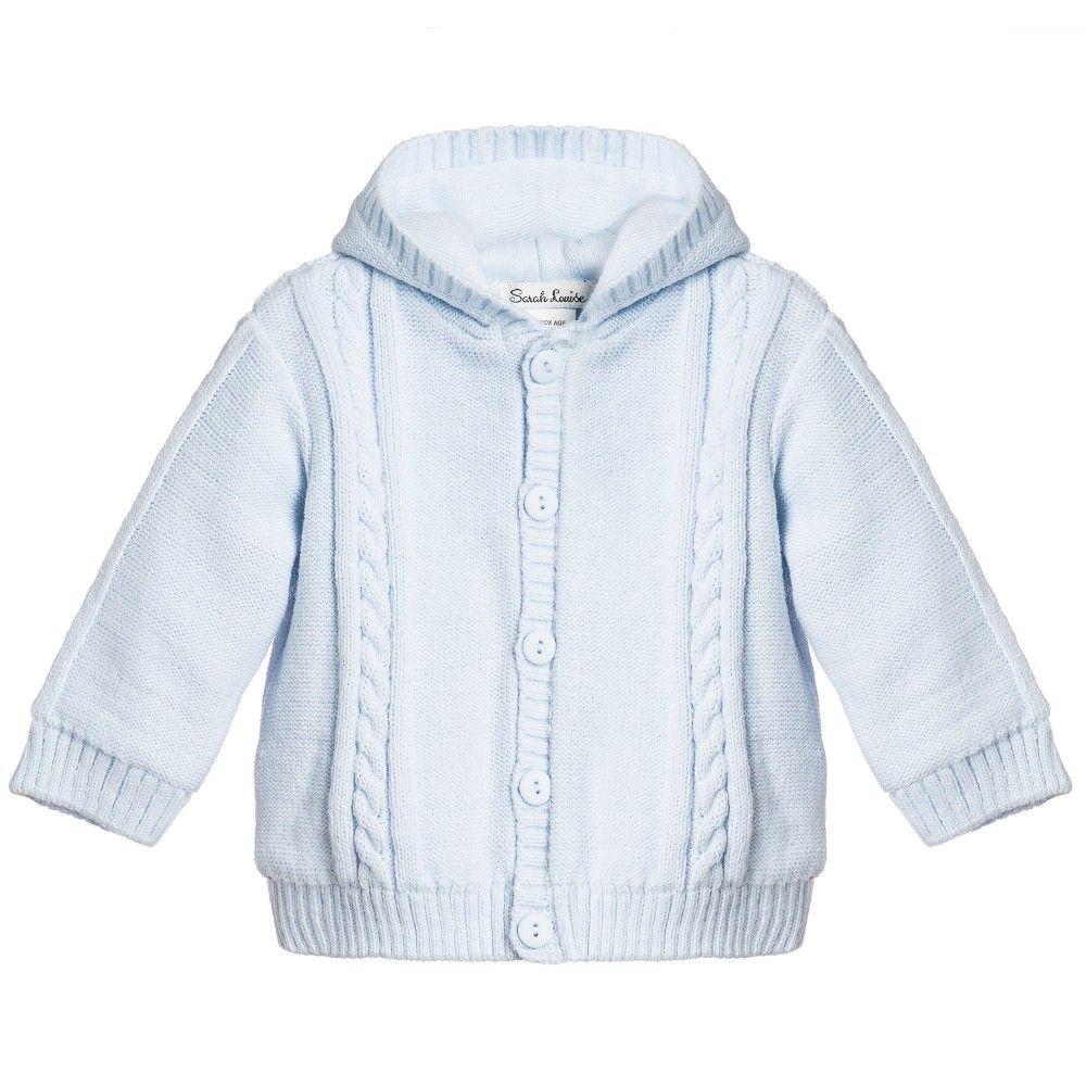 f5219efe885b Baby boys cute pale blue hooded pram jacket by  span Sarah Louise. Made
