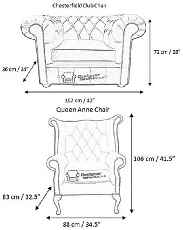 Measurements Of Chesterfield Furniture Furniture Chesterfield