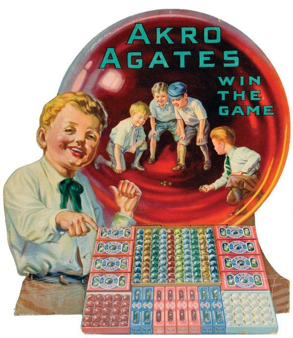 Akro Agate Marbles Display Marbles Vintage