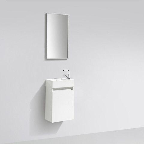 Meuble lave-main salle de bain design SIENA largeur 40 cm Blanc