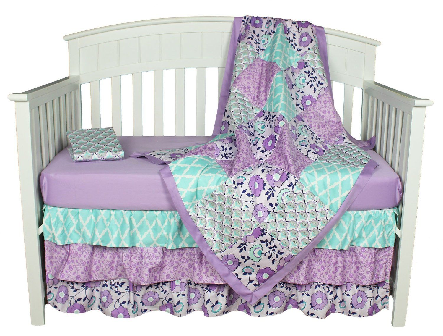 Purple Baby Bedding Zoe 4 In 1 Crib Bedding Set By The Peanut
