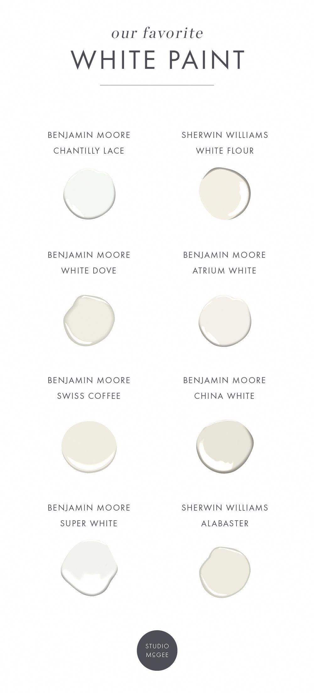 our white paint favorites again studio mcgee on best color for studio walls id=69948