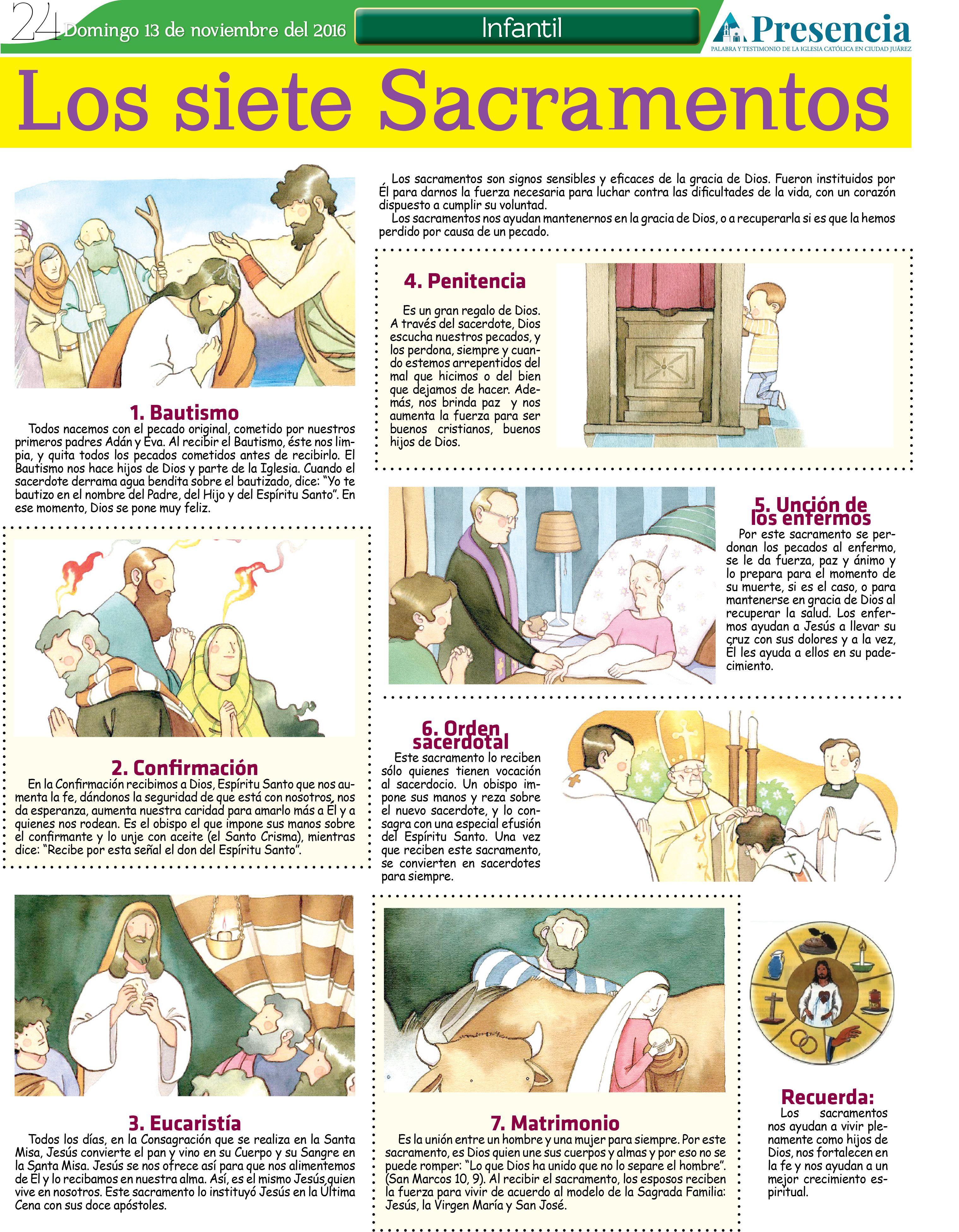 Los 7 Sacramentos Presencia Digital Los 7 Sacramentos Temas De Catequesis Educación Religiosa Católica