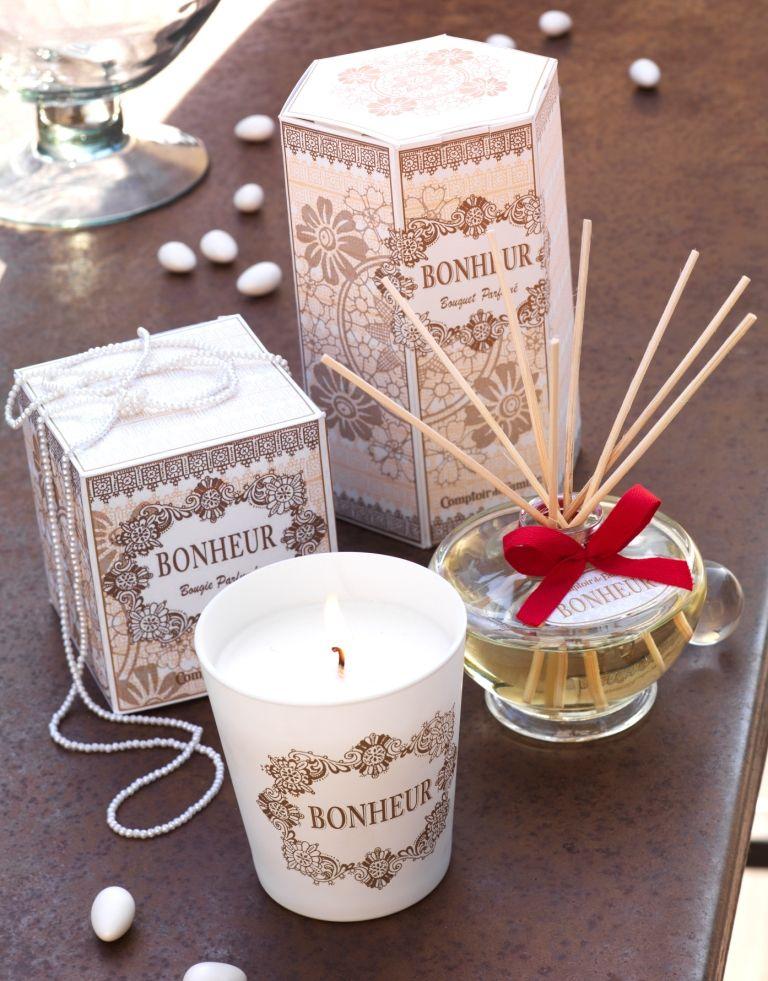 Bougie et bouquet parfum bonheur - Www comptoir de famille com boutique ...
