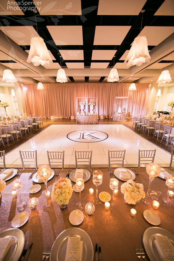 Atlanta Wedding Ceremony U0026 Reception Venue: Day Hall At The Atlanta  Botanical Gardens. Atlanta Garden Wedding. White Dance Floor With Monogram. Nice Design
