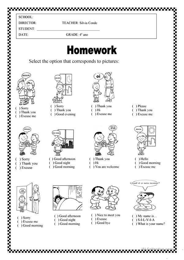 Greetings Worksheets For Kids Kids Worksheets Printables Classroom Language