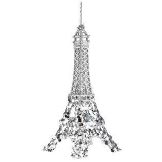 $3.99 Silver Glitter Eiffel Tower Ornament | Shop Hobby Lobby