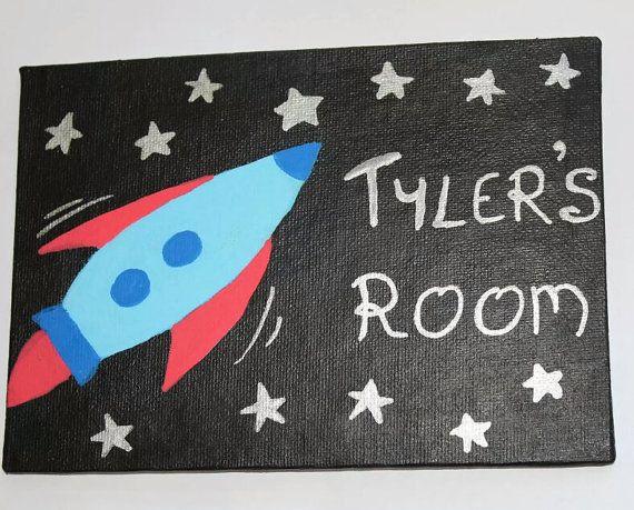 Childrens Boys Bedroom Door Sign Plaque Space By