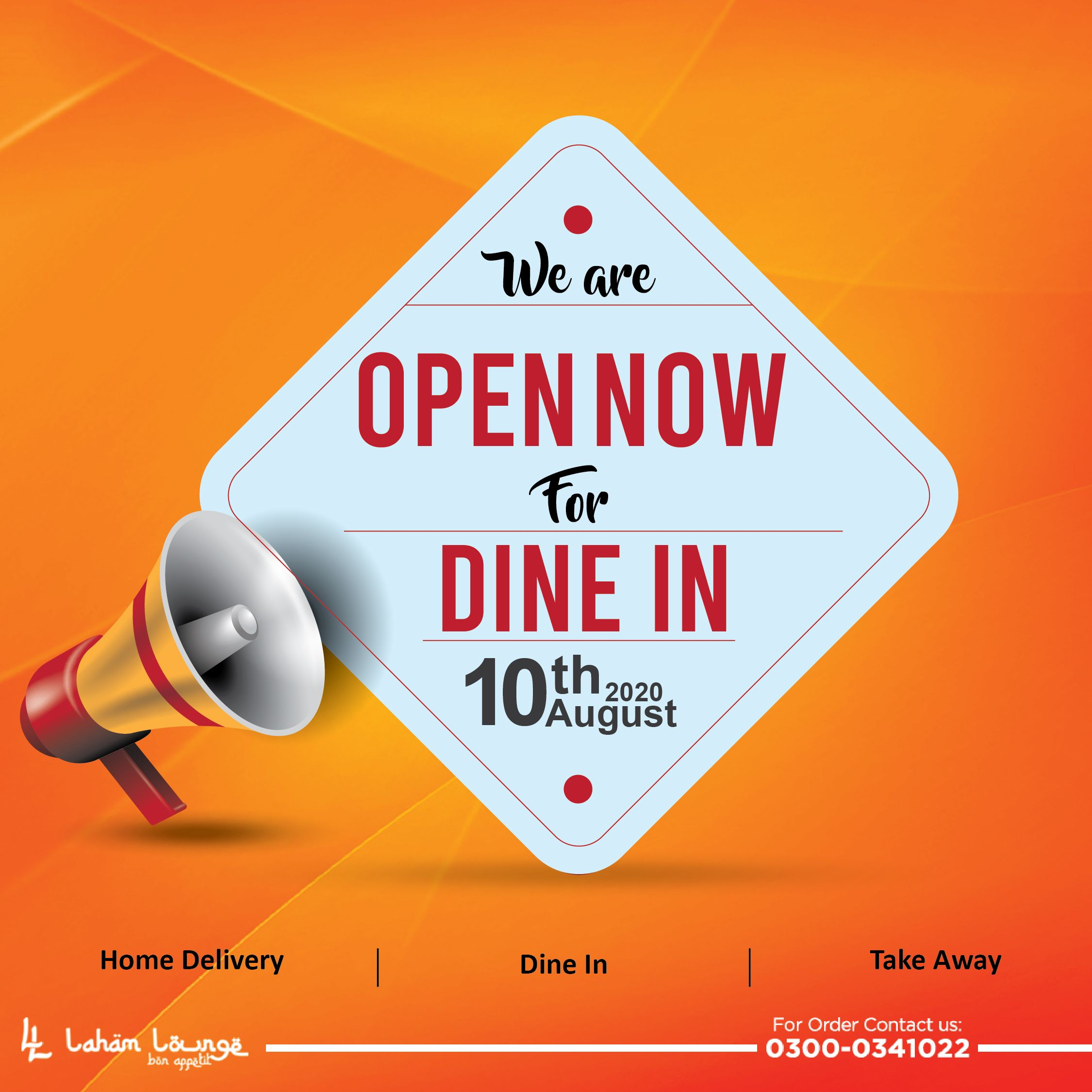 Laham Lounge Restaurant Is Open Now For Dine In Order Food Food Delivery Dining