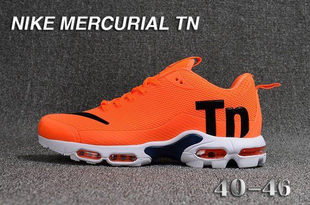 9519d3d79be Fashion Men s Nike Mercurial TN Cushioning Running Sports Shoes Orange    Black