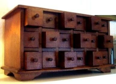 Amazon.com   18 Drawer Apothecary Spice Chest Solid Mahogany   Storage  Chests