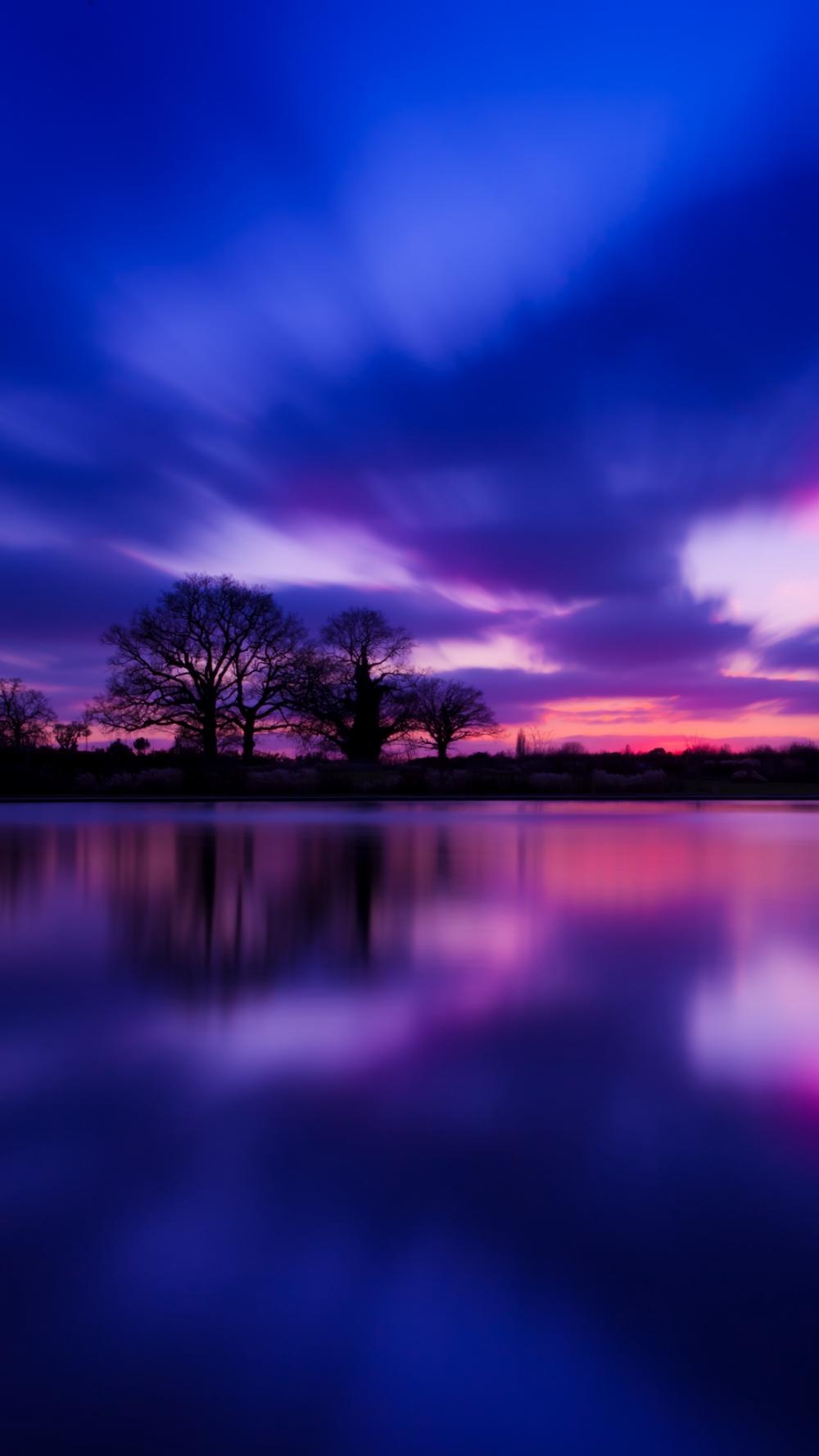 Great Britain Evening Twilight Lake Water Smooth Wallpaper – [1080×1920]